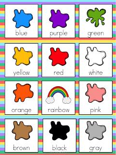 Resultado de imagen de colours vocabulary