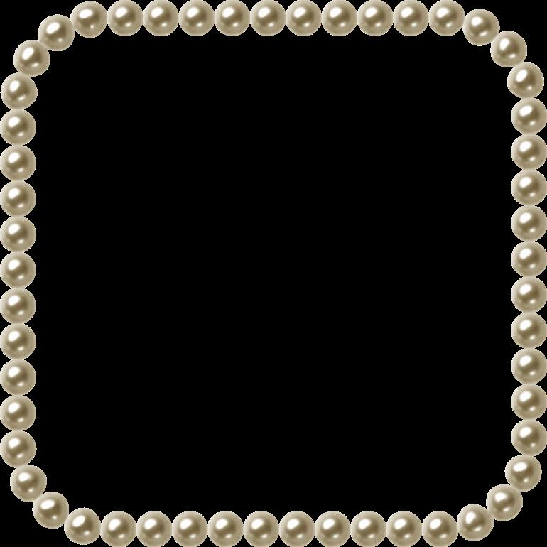 Frame Border Art Pearls Clip