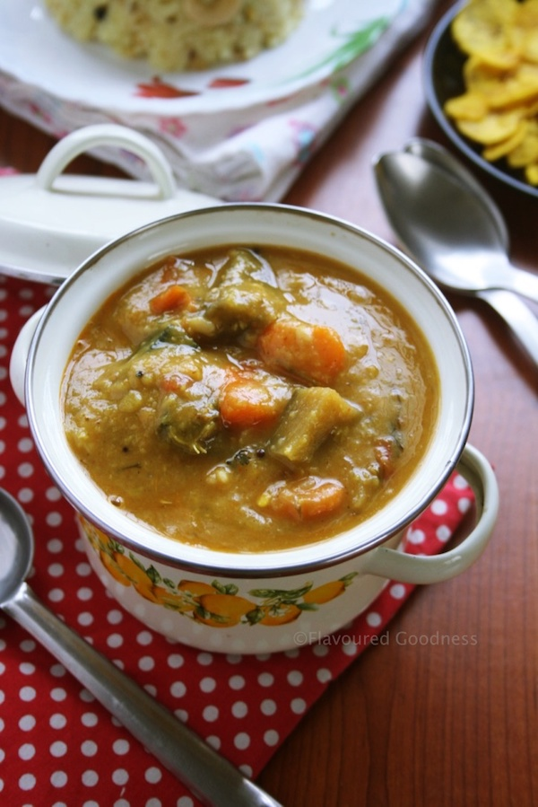 How to make Mixed Vegetable Sambar Recipe, Spiced Lentil Soup Recipe