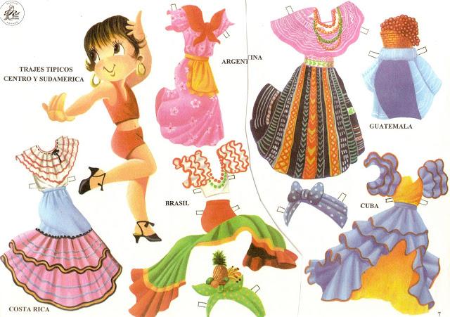 Muñecos Hechos De Papel Muestran Diversidad De Ecuador: El Blog De PINSABALIN: Esas Muñecas Recortables
