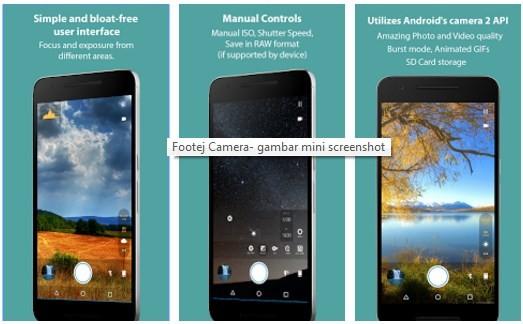 Aplikasi kamera terbaik - Footej Camera
