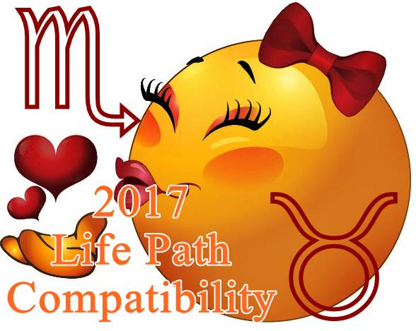 Scorpio and Taurus Life Path compatibility for relationship