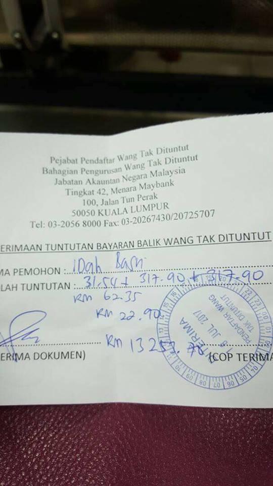 Semakan Wang Tak Dituntut Di 14 Lokasi Seluruh Malaysia