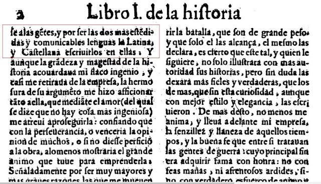 Bernardino Gómez Miedes, Jaime I, castellana, latina