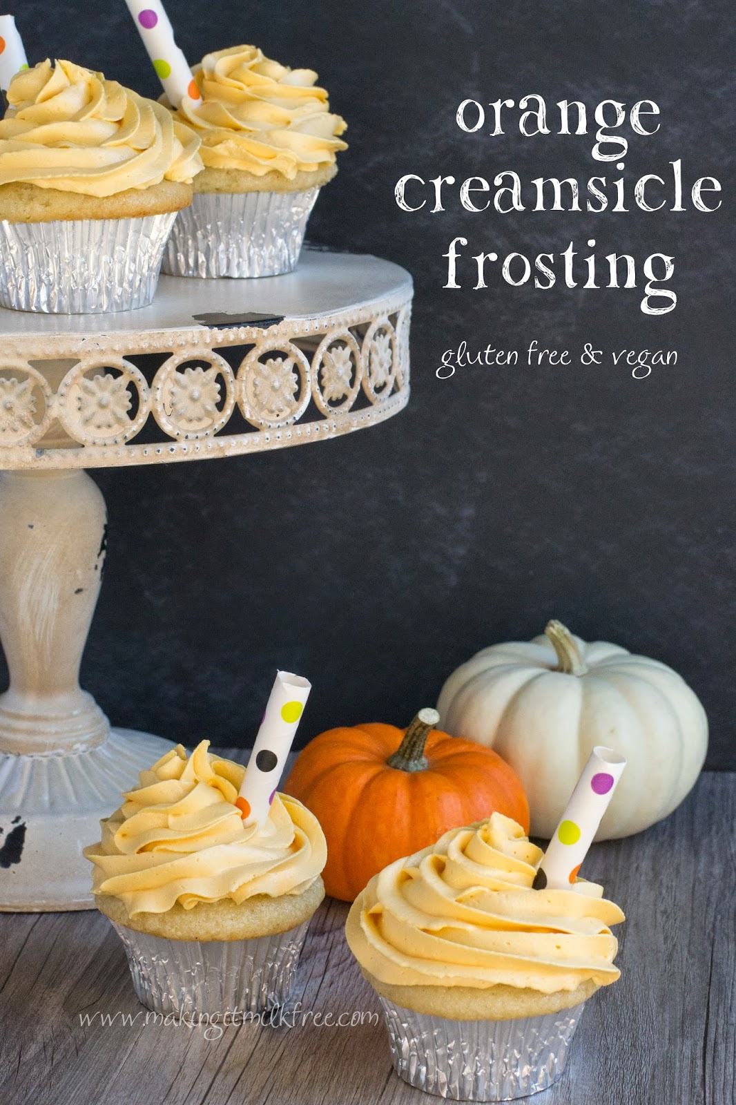 #glutenfree #vegan #orange #creamsicle #frosting
