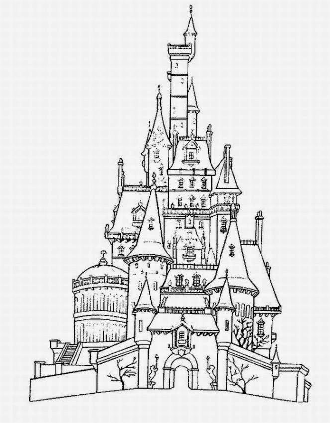 disney cinderella castle coloring pages   Disney Castle Coloring Pages - Disney Coloring Pages