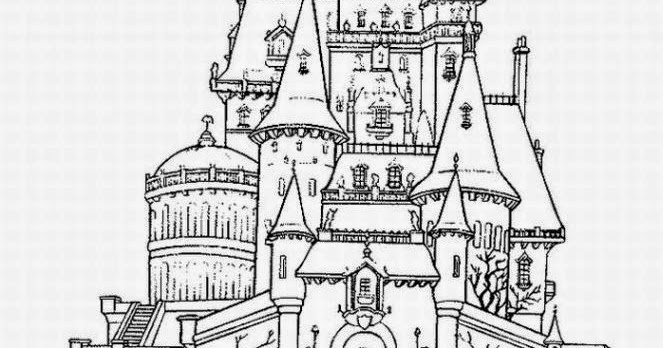 Disney Castle Coloring Pages Printable - Coloring Home | 348x663