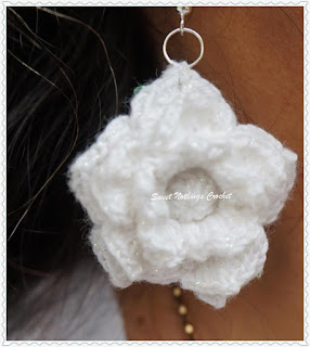 Free crochet pattern, ear ring pattern, Irish lace crochet free ear ring pattern