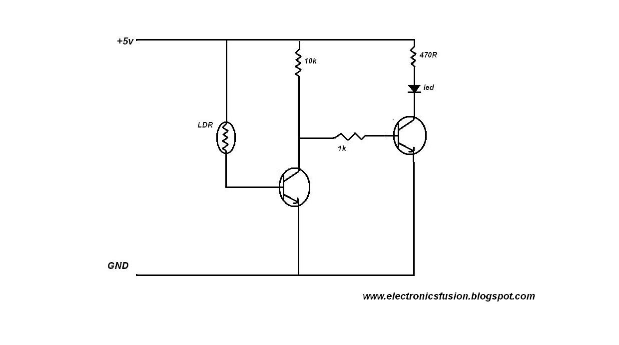 Electronics Fusions: A SIMPLE DARK DETECTING CIRCUIT USING LDR