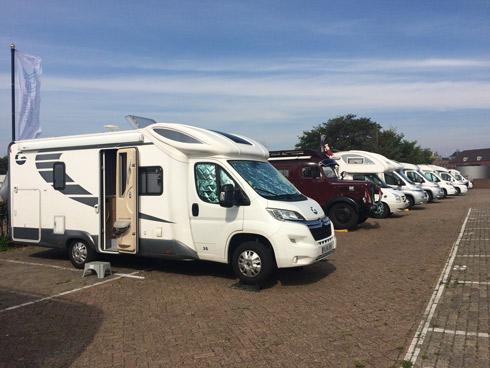 Área de autocaravanas de Den Helder (Holanda)