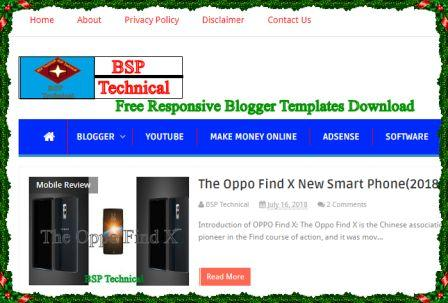 Free Simple Responsive Blogger Templates (2018)