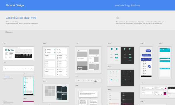 Free Download Material Design Sticker Sheets & Icons for Adobe