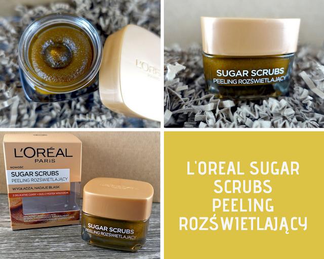loreal sugar scrubs peelingi do twarzy peeling rozświetlający