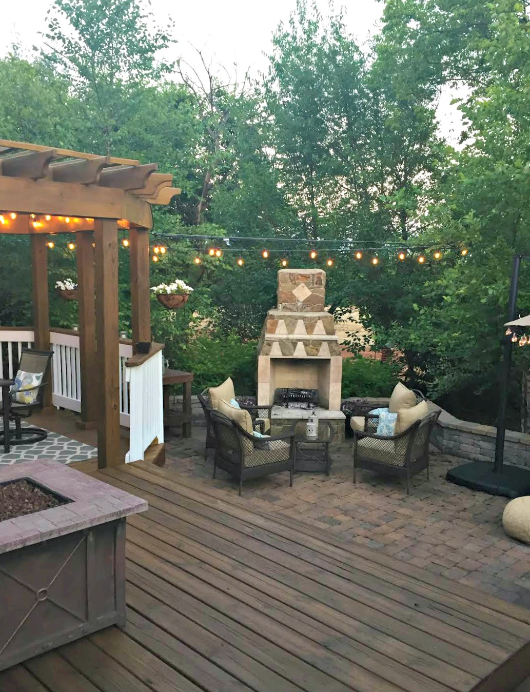 Hang String Lights Over Patio : How to hang outdoor string lights from Thrifty Decor Chick