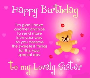 The Best Happy Birthday Poems Poetry For Sister In English