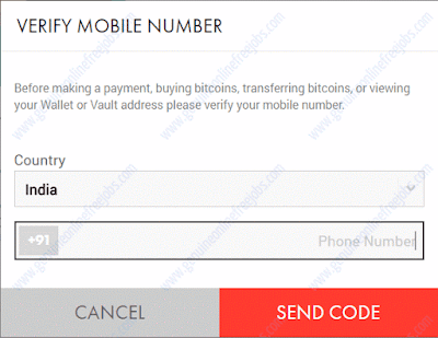 Creating xapo wallet - Mobile phone verification
