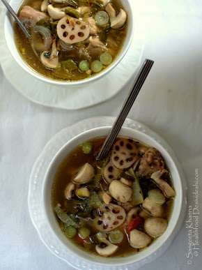 chicken stew the way I like | chicken stew with lotus stem, mushrooms and spring onions