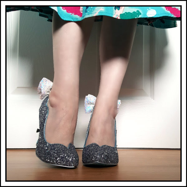 wearing irregular choice disney cinderella shoes