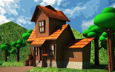Gambar Rumah Kartun Lucu 3D
