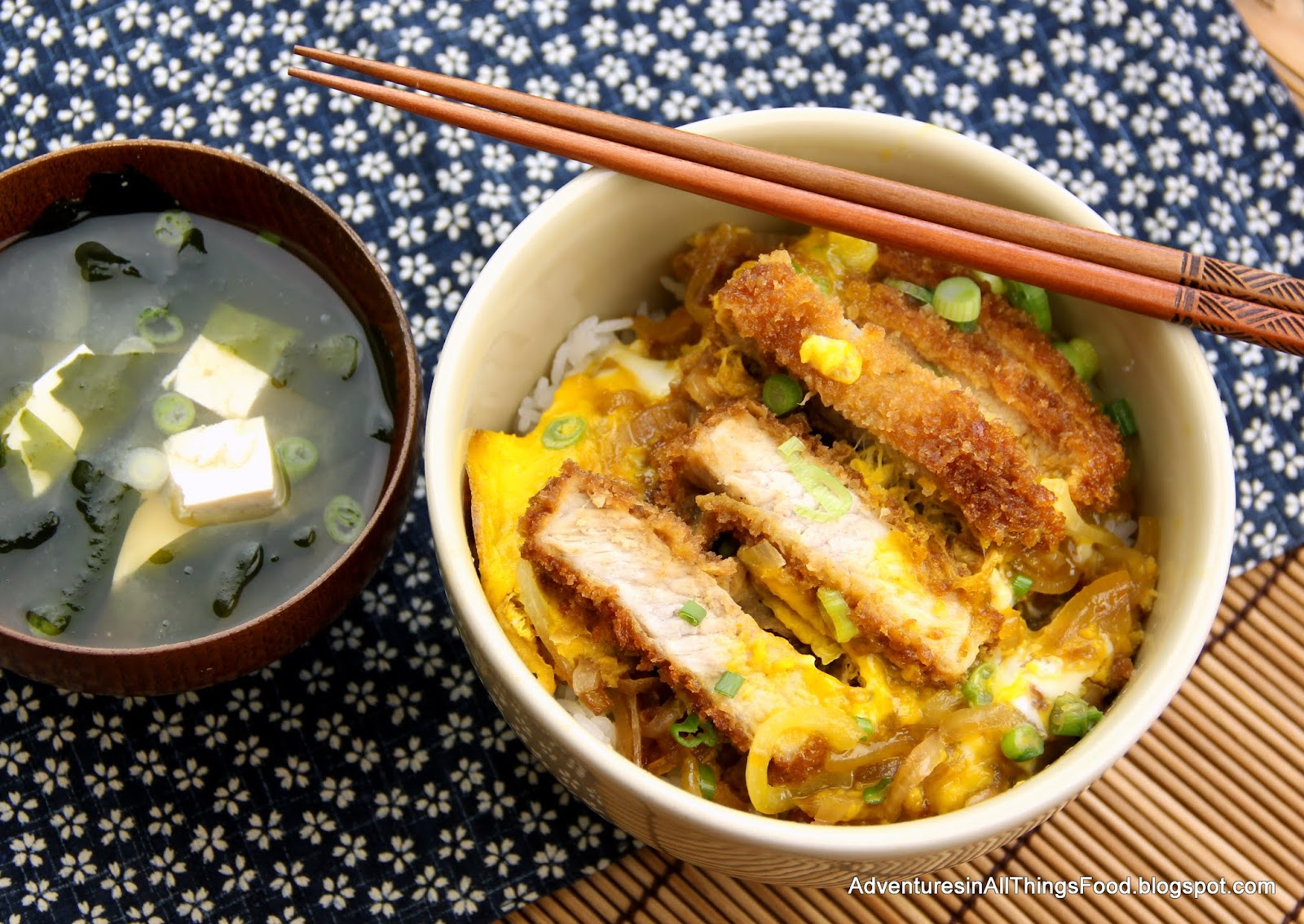 Adventures in all things food: Katsudon (Fried Pork cutlet ...