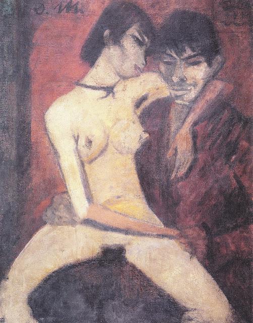 Otto Mueller - Coppia di amanti - erotismo - dipinti