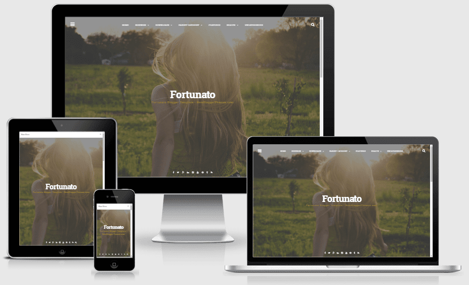 Download Fortunato Responsive Minimal Blogger Template