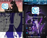 BBM MOD Uchiha Sasuke Clone & Unclone