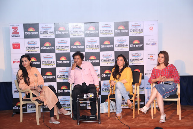 (L to R) Salnoy Luthra, Manoj Srivastava, Paaki A Tyrewala and Tisca Chopra during Coffee Table Session on Short is Big (1)