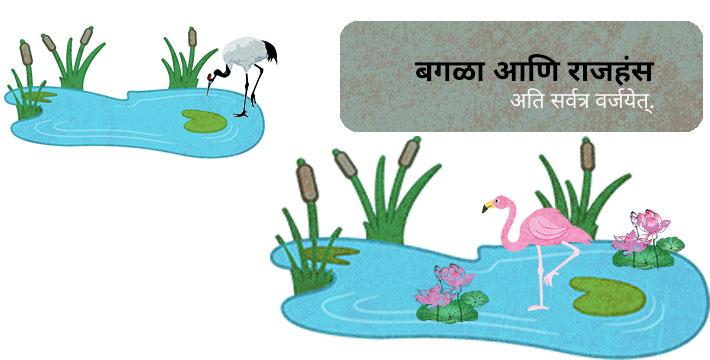 बगळा आणि राजहंस - इसापनीती कथा | Bagala Aani Rajhansa - Isapniti Katha