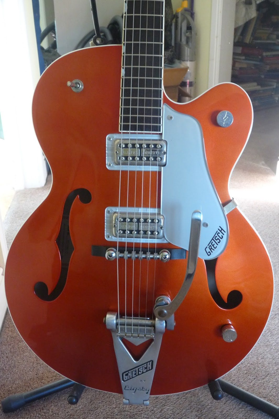 how it is guitar reviews for you gretsch 6120 hot rod brian setzer mk1 in candy tangerine. Black Bedroom Furniture Sets. Home Design Ideas