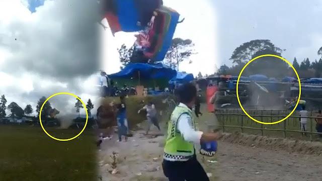 Angin Puting Beliung Sapu Bersih Arena Pacuan Kuda Aceh, 8 Orang Jadi Korban