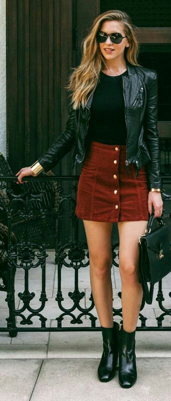 Rev Up Your Wardrobe With These Leather Jacket Outfits03