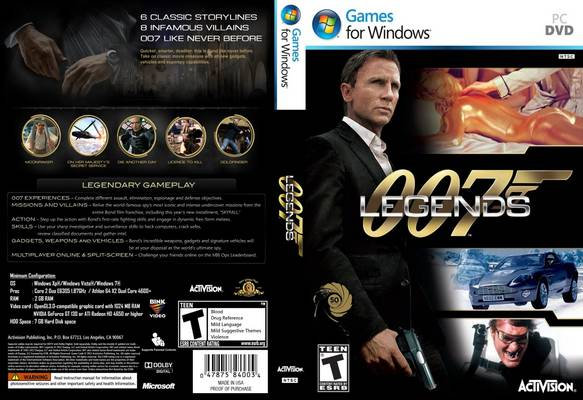 007 Legends PC DVD Capa