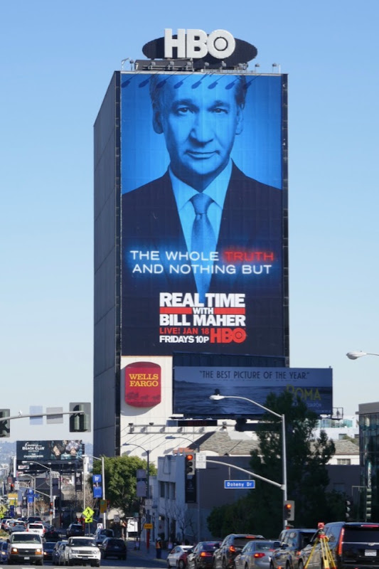 Giant Real Time Bill Maher season 17 billboard