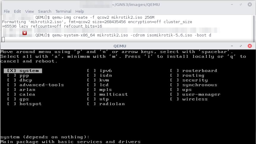 Install Mikrotik di Qemu   E-Learning