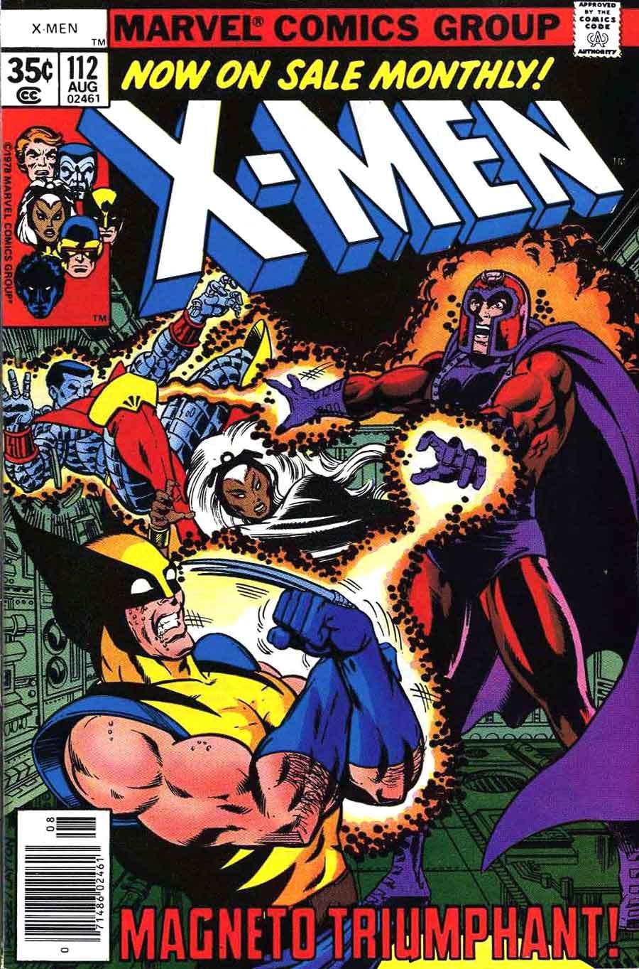 X-men v1 #112 marvel comic book cover art by John Byrne