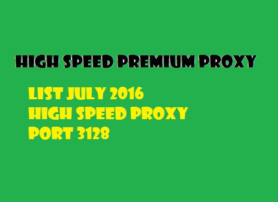 PORT 3128 PREMIUM PROXY JULY 2016 - TRICKS AND TIPS