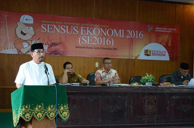Sensus Ekonomi 2016, Warga Banda Aceh Diminta Berikan Data yang Benar