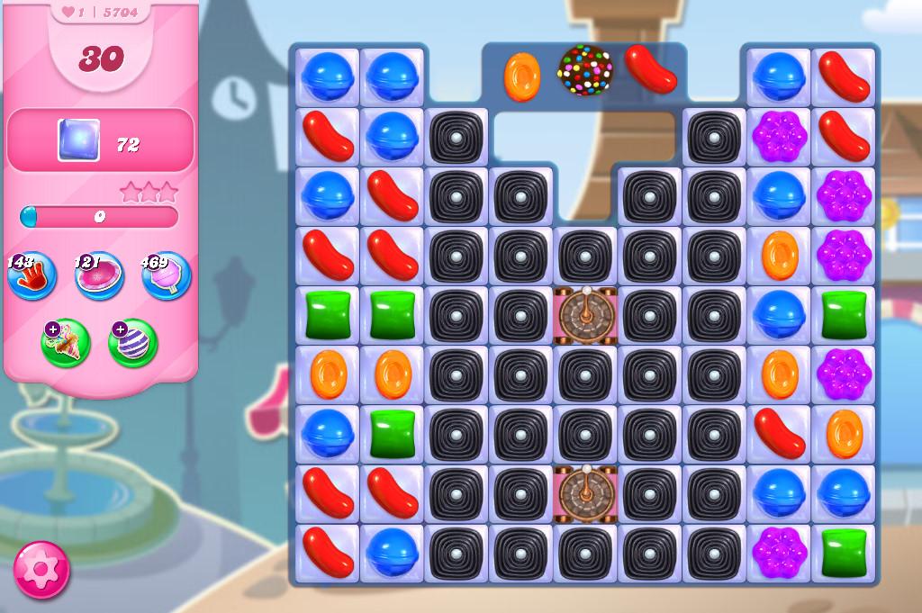 Candy Crush Saga level 5704