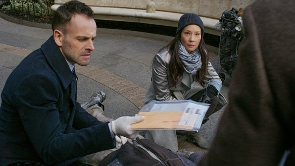 Elementary Sherlock Holmes Joan Watson crime scene investigation Season 3 Episode 15 When Your Numbers Up