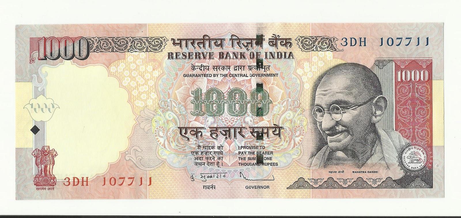 indian money 1000 Gallery