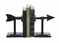 Metal Arrow Bookends - Gift Ideas for Bookworms and Book Lover Gift Guide