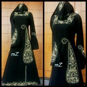 model gamis abaya hitam arab modern
