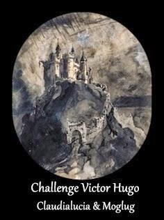 Logo du challenge Victor Hugo de claudialucia et Moglug dessin de Vcitor Hugo