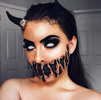 Halloween Ideas 2019 Makeup.33 Scary Devil Makeup Tutorials For Halloween Party 2019