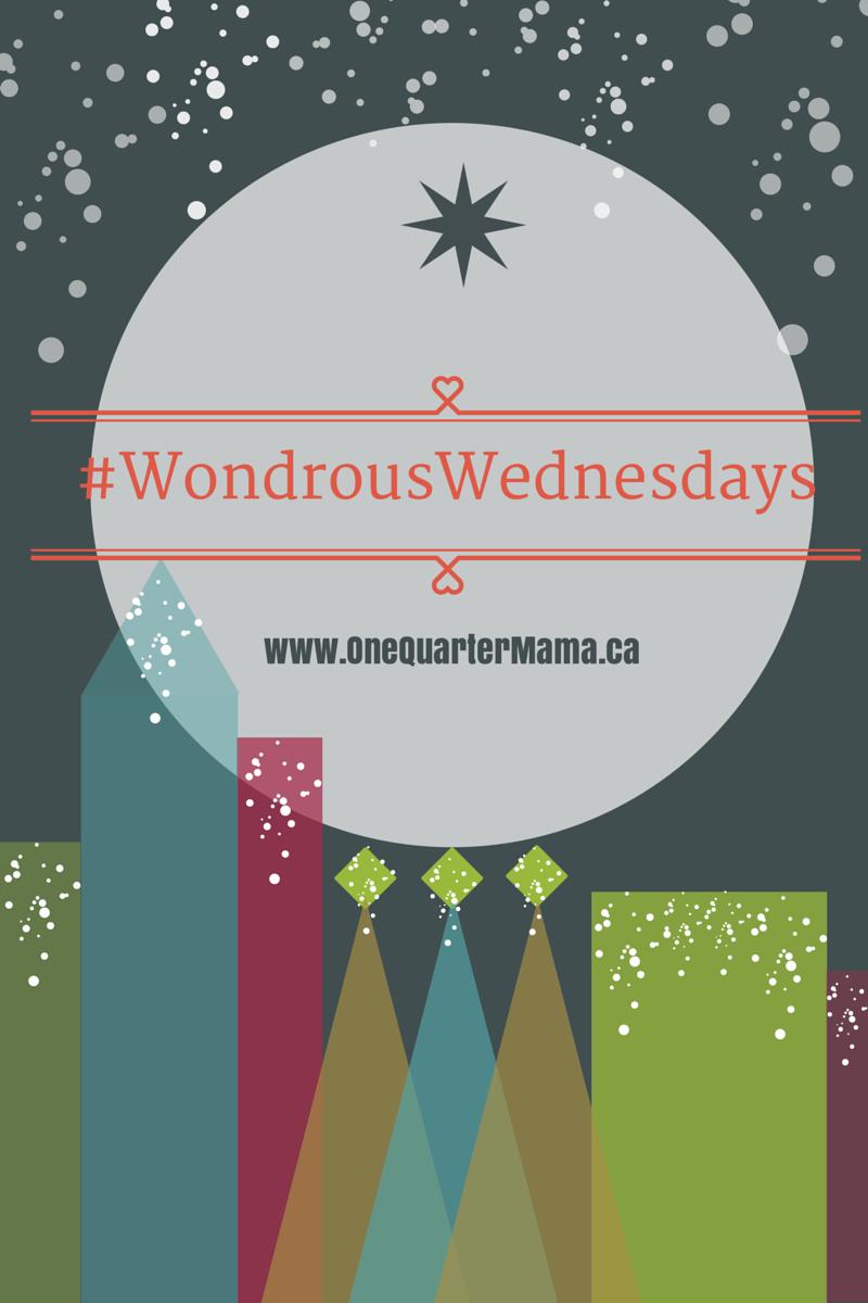 #WondrousWednesdays Logo on OneQuarterMama.ca copyright 2014