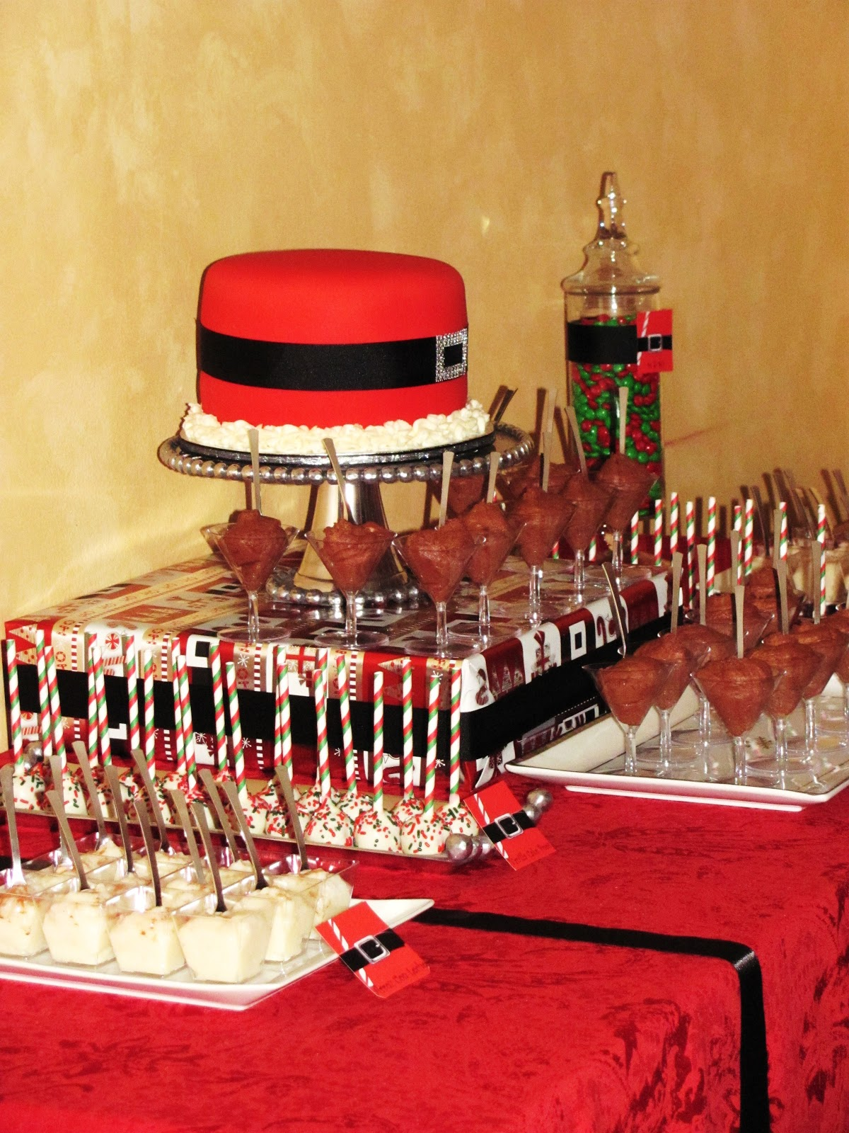 Sweet Treats Carousel Christmas Dessert Table