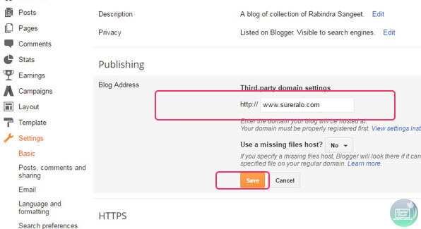 Adding third party URL