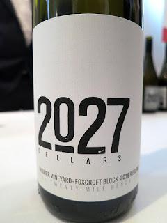 2027 Cellars Wismer Vineyard Fox Croft Block Riesling 2016 (89 pts)