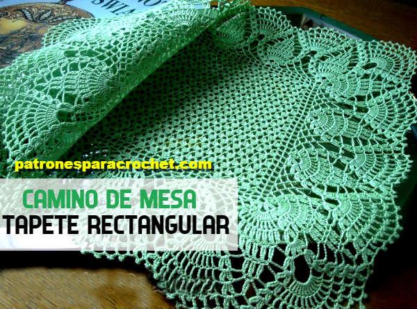 Patrones De Camino De Mesa Tejido A Crochet Con Fantástico Borde Con Piñas Y Ondas